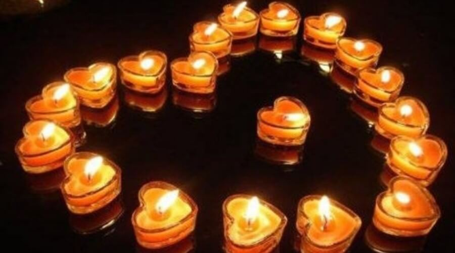 Heartshaped Candles