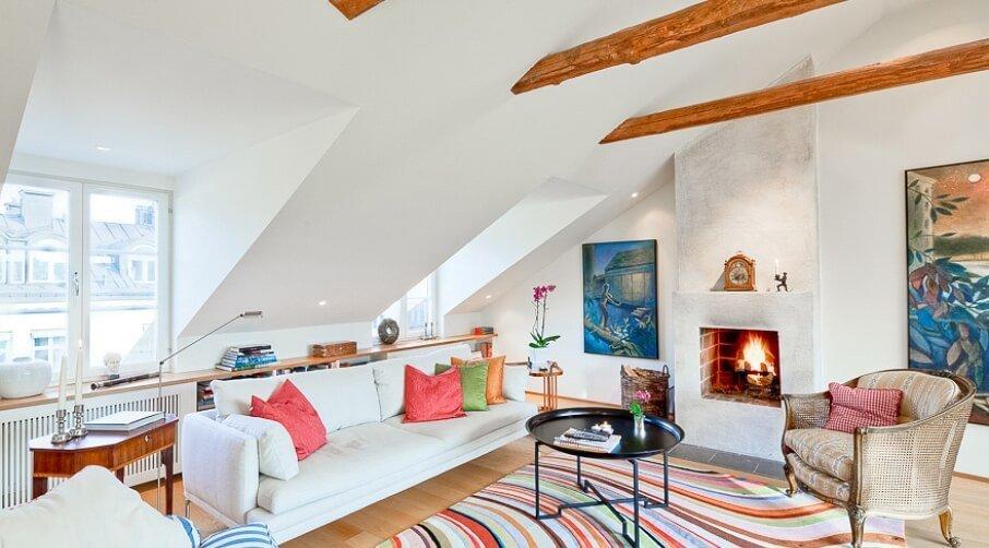 Attic Living Room 15 utterly bold and sleek attic living room design ideas - https