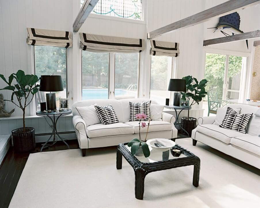 chic living rooms with dazzling accent pillows https
