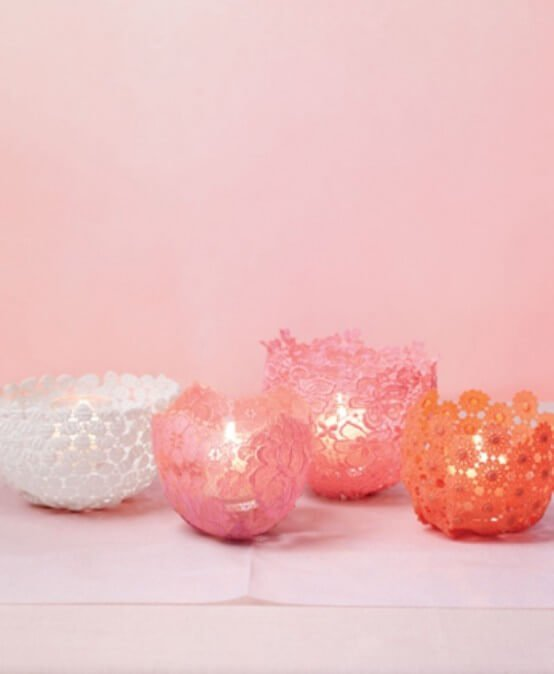 Pastel Colored Candles