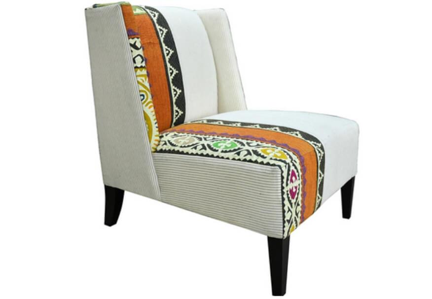 Pin Stripe Modern Lounge Arm Chair