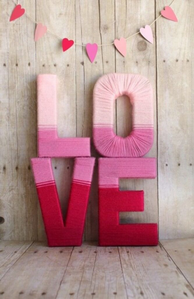 Pink String Wraped Sign
