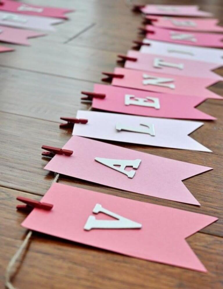 Pink Valentine Garland