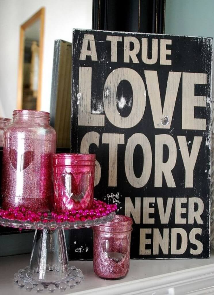 Quote Valentine's Sign