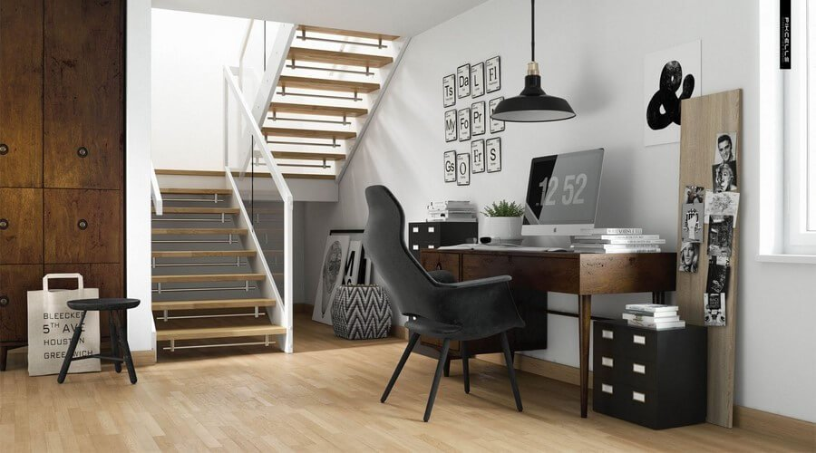12 cool scandinavian home office designs you 39 ll love for Office design nordic