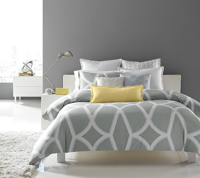 Serene Gray and Yellow Bedroom