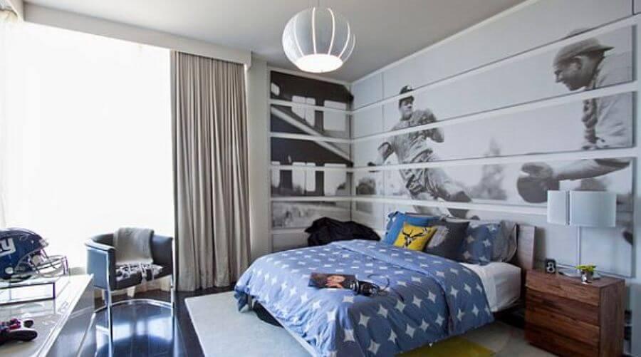 Sport's Inspired Teen's Boy Bedroom