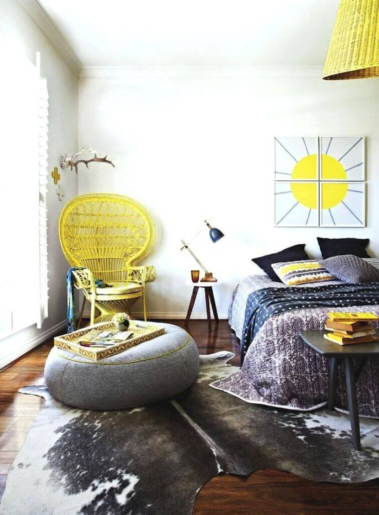 13 bohemian chic bedroom design ideas https for Yellow bedroom interior design