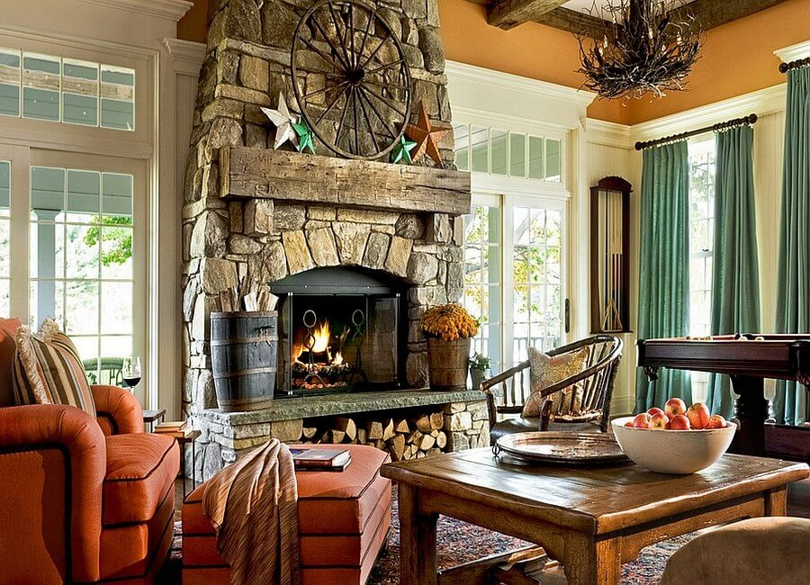 Under Fireplace Wood Storage