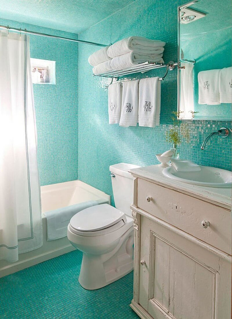 Top 7 super small bathroom design ideas https for Bathroom designs blue