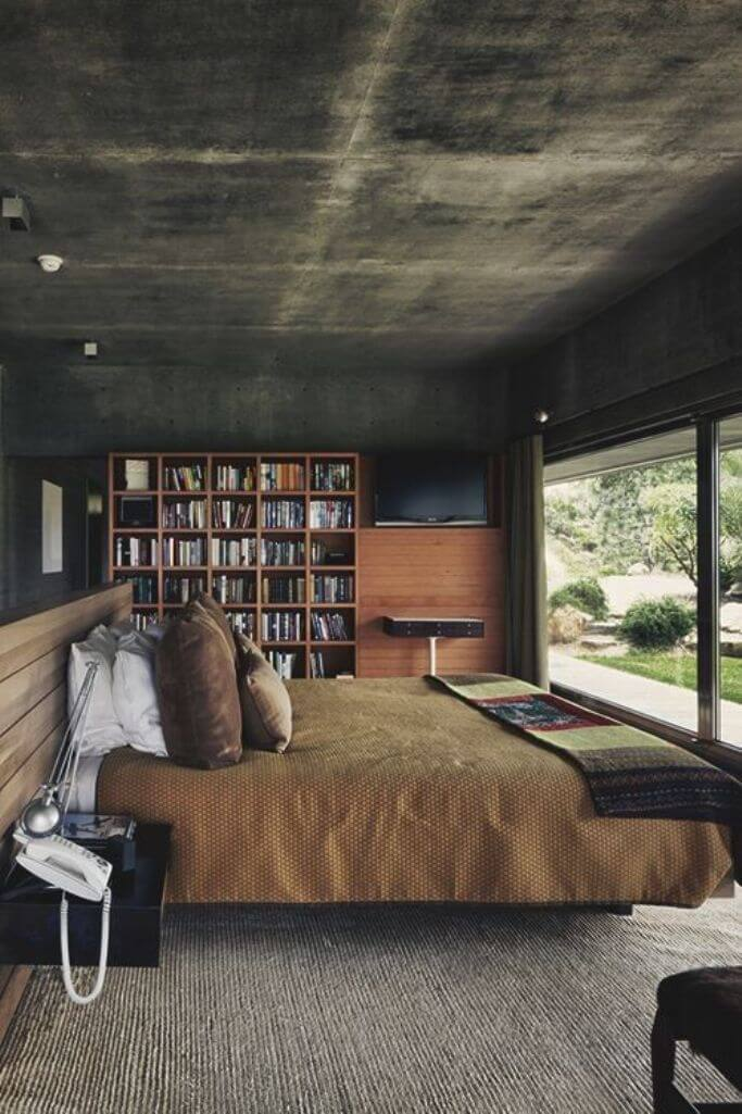 11 Bold Bedroom Designs With Bare Concrete Walls Https
