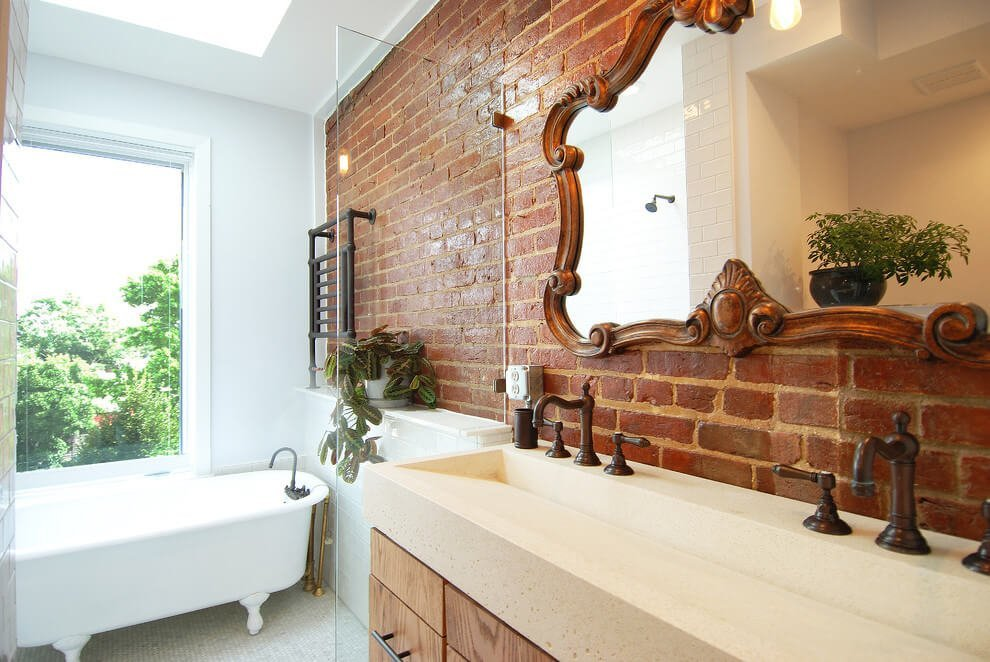 12 Exposed Bricks Bathroom Design Ideas Https