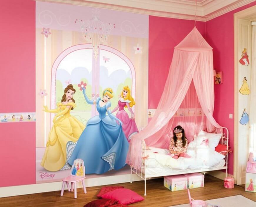 Charming Princess Inspired Girls Bedroom