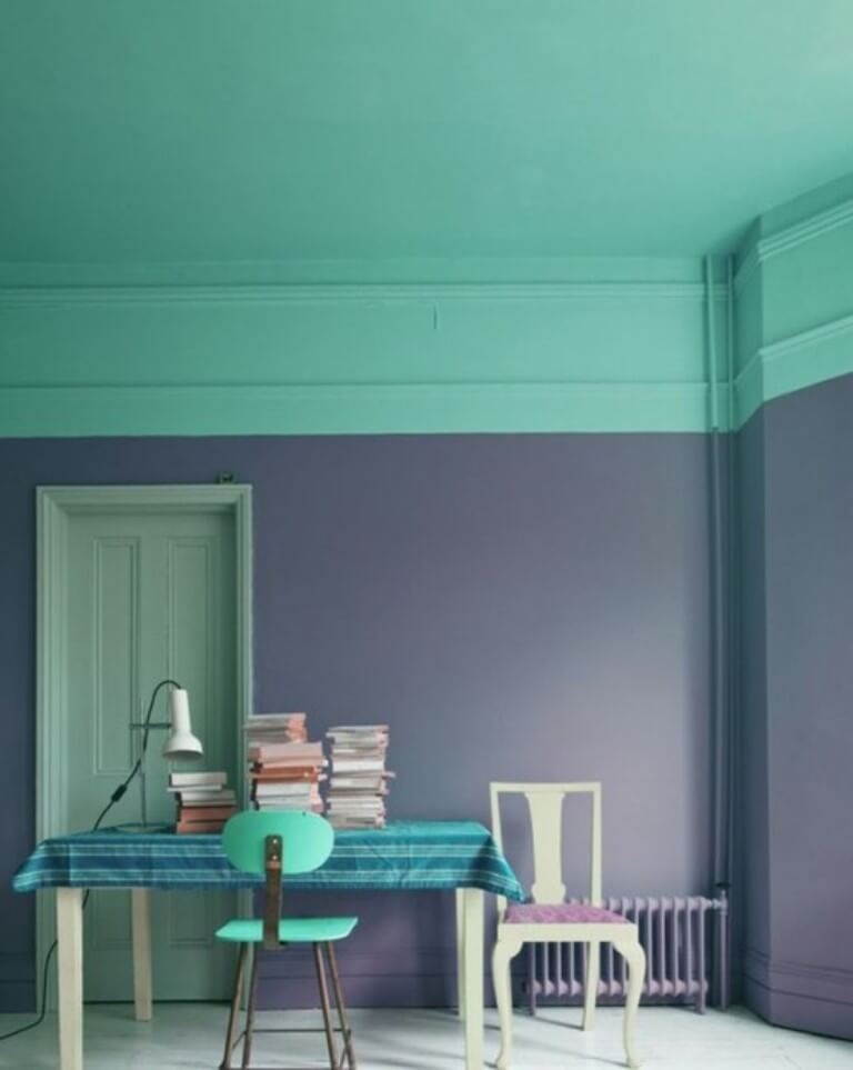Complementary Color Block Wall