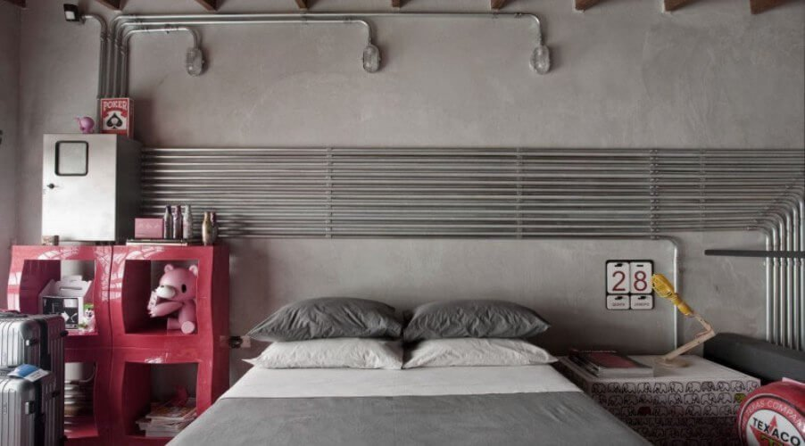 11 Bold Bedroom Designs With Bare Concrete Walls