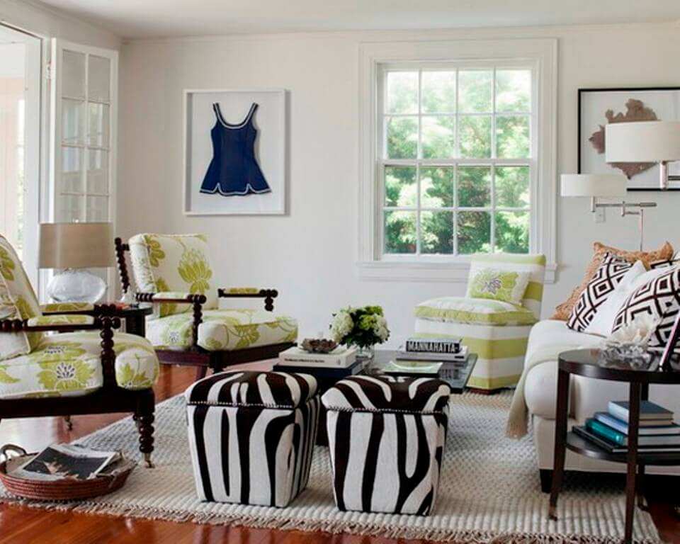 Chic Effect- Zebra Print Accents in 10 Sensational Living ...