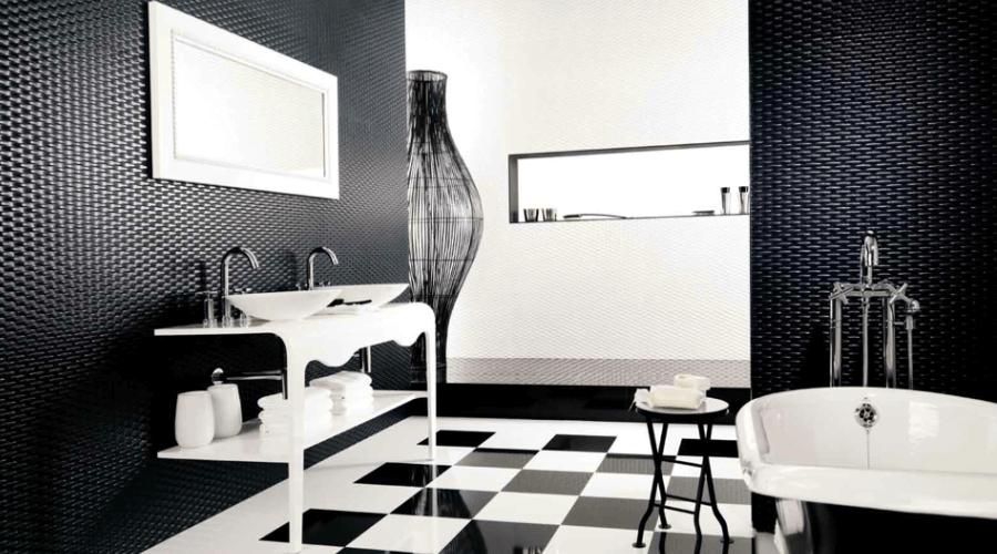 Geometric High Contrast Bathroom