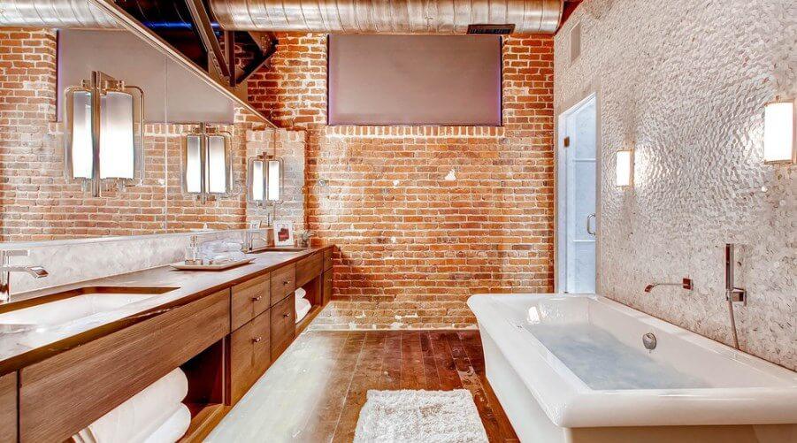 12 Exposed Bricks Bathroom Design Ideas
