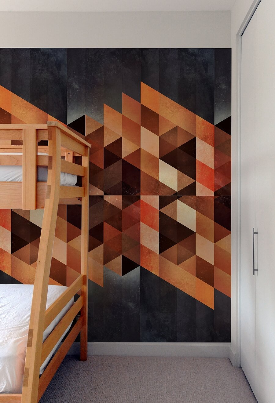 Geometric Wallpaper In 10 Bold Bedroom Ideas Https