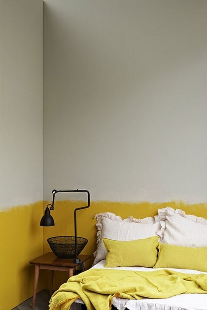 Laid Back Color Block Bedroom Wall