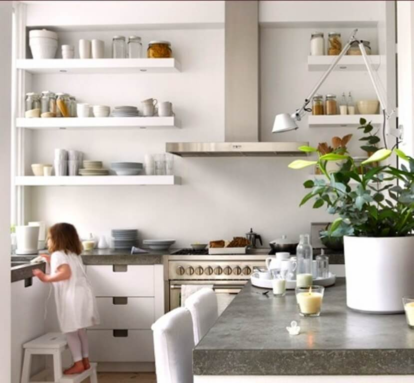 Modern Kitchen with Floating Shelves