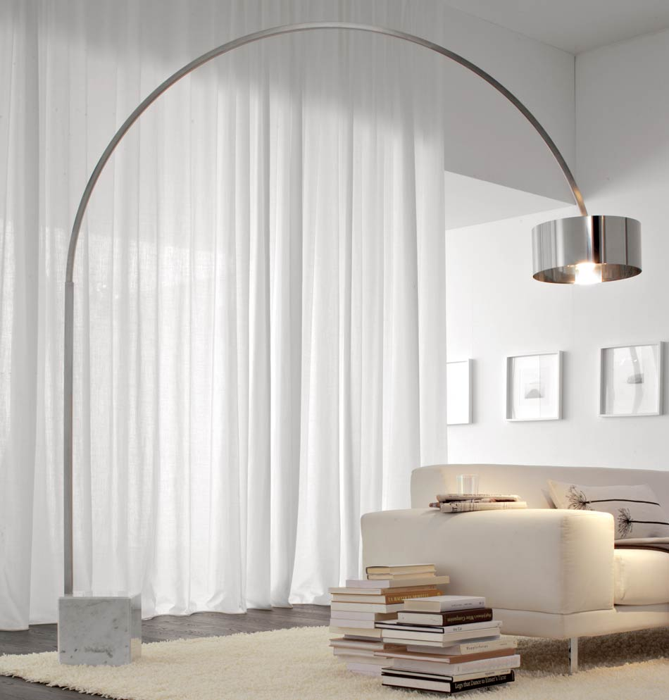 8 contemporary arc floor lamp designs as a perfect decoration detail. Black Bedroom Furniture Sets. Home Design Ideas