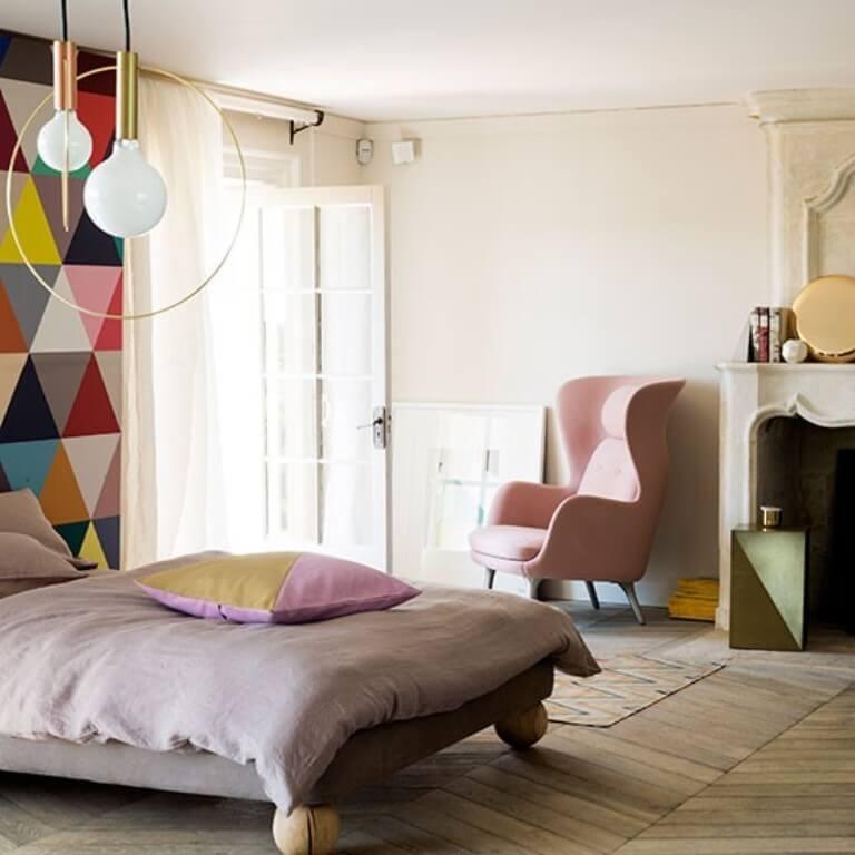 Geometric Wallpaper In 10 Bold Bedroom Ideas - Interior Idea