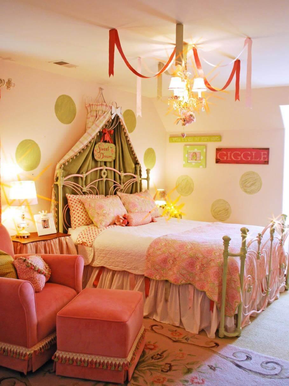 Pastel Pink Princess Inspired Girls Bedroom