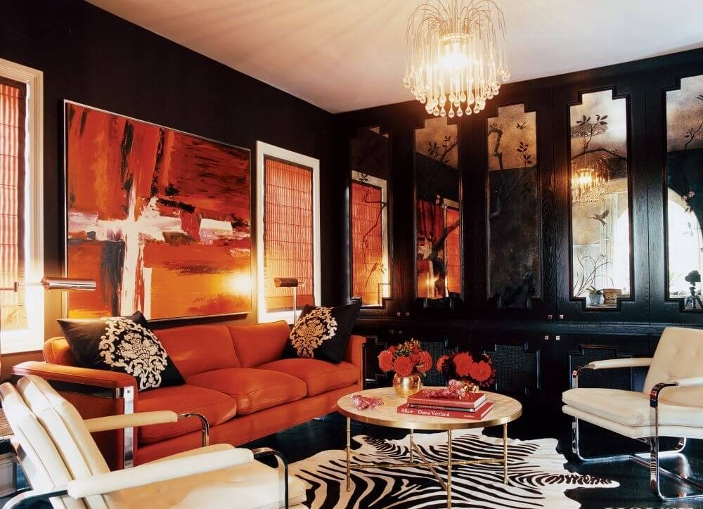 Sensual Living Room with Zebra Print