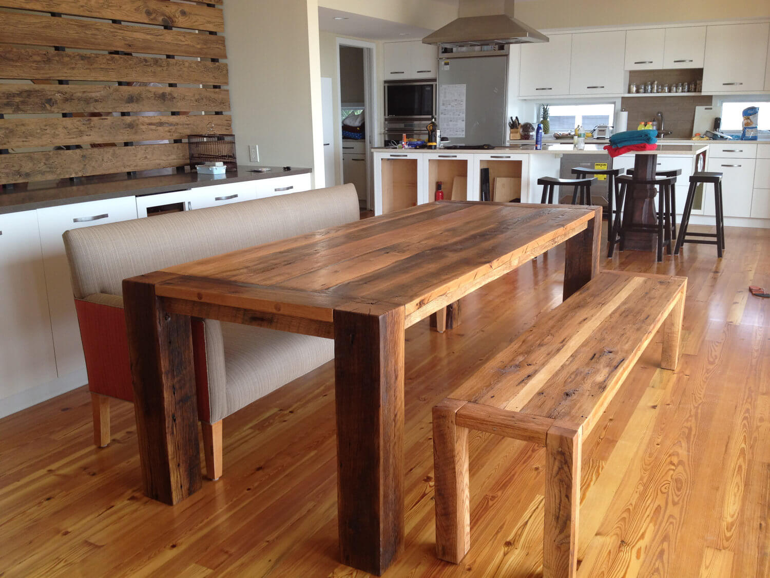 Dining Ideas Reclaimed Wood Round Table Raw