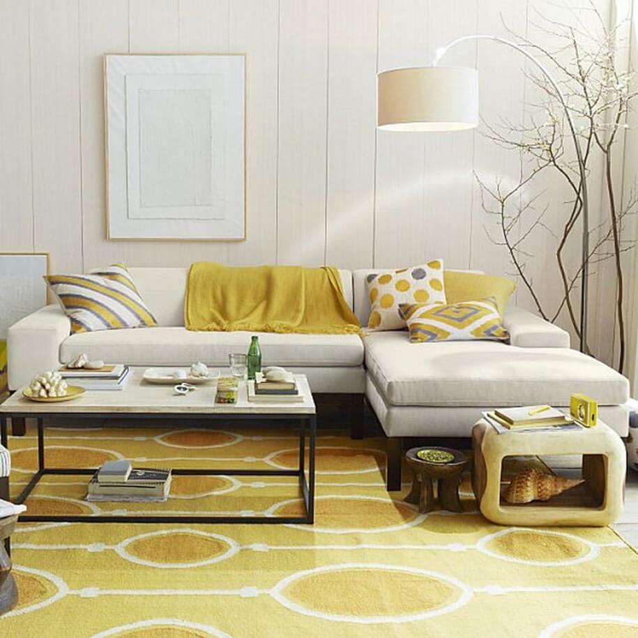 White Shade Arc Floor Lamp