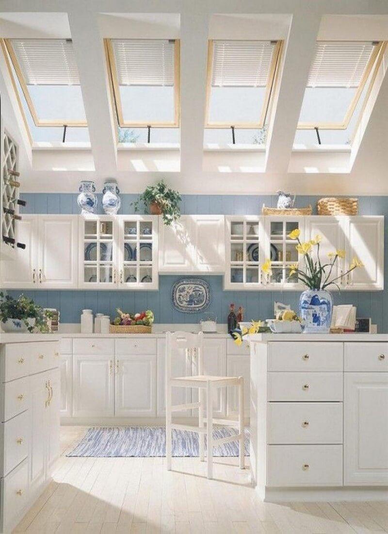 11 superb attic kitchen designs for Attic kitchen designs