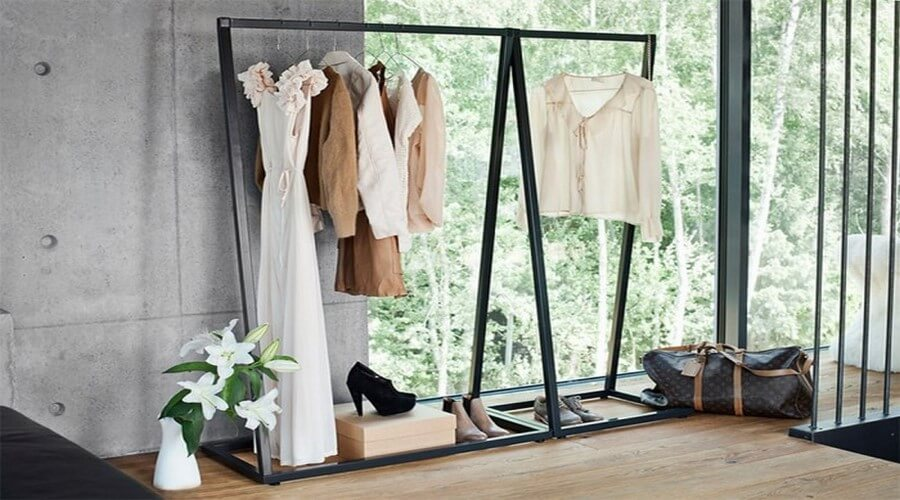 11 Stylish Bedroom Clothes Rack Desings