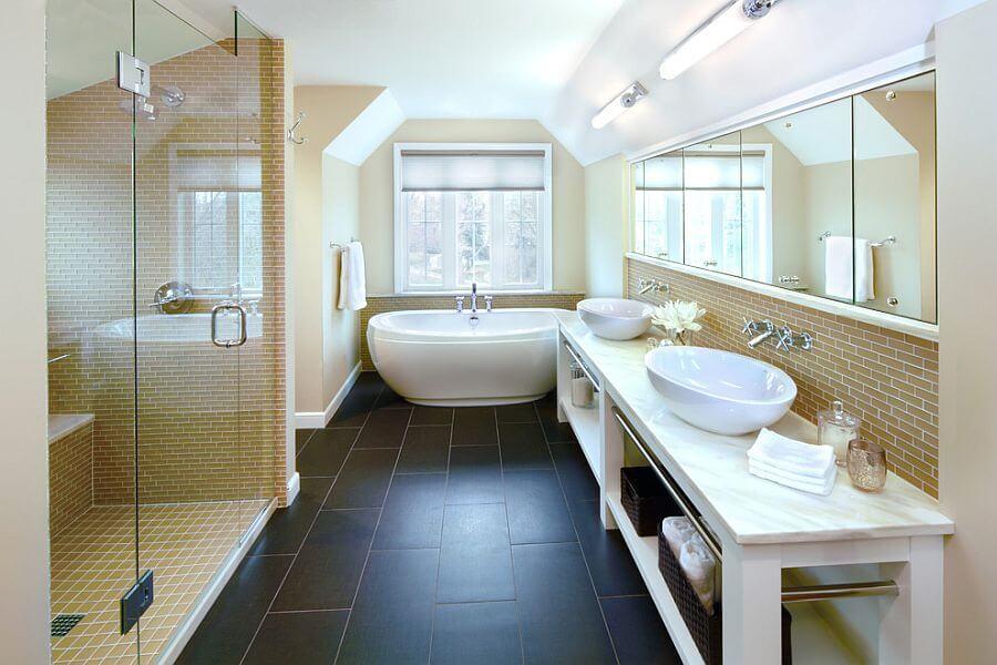 Attic Yellow Bathroom