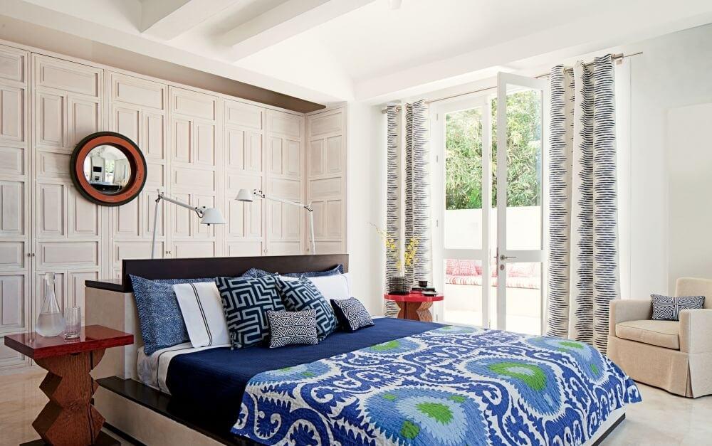 Blue COntemporary Bedding