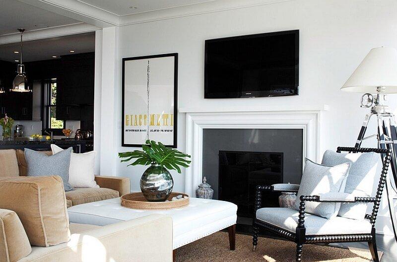 Bold Black and White Living Room