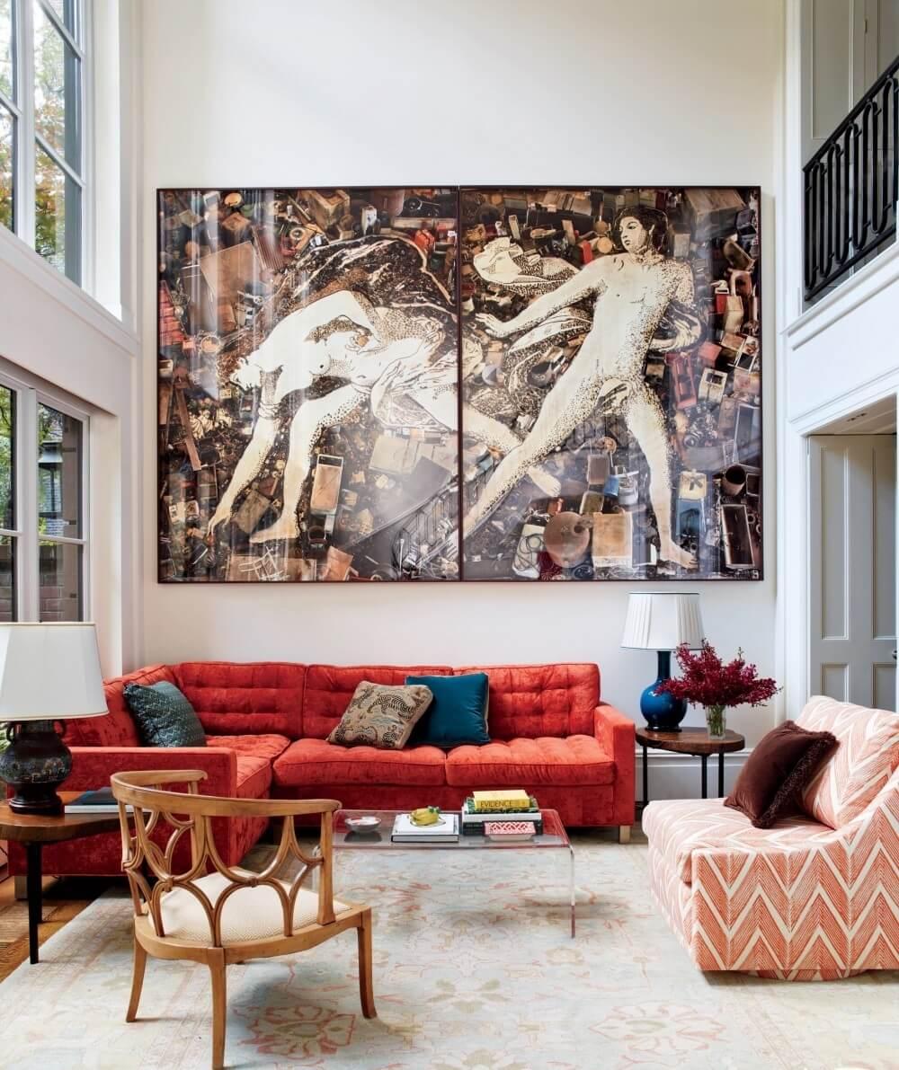 Bold High Contrast Living Room