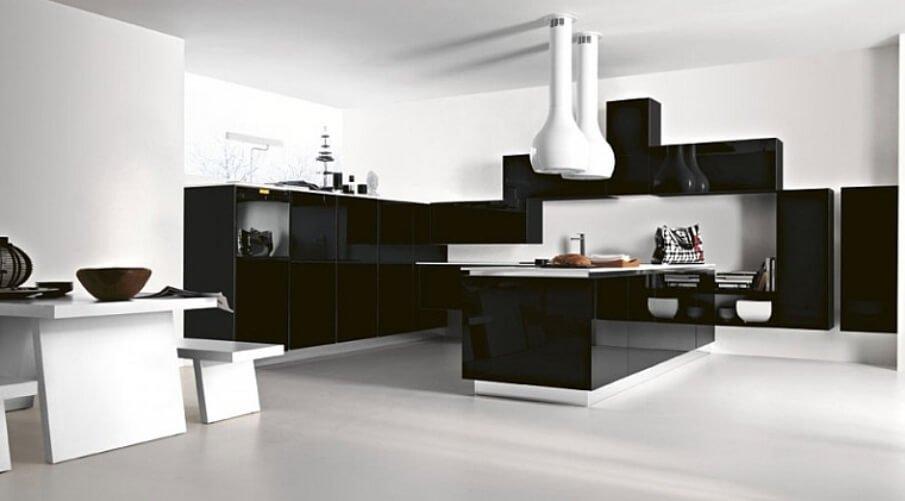 Briliant Black and White Kitchen