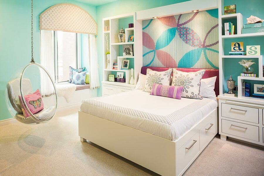 Colorful Floral Accent Wall