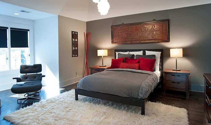 10 refined red and gray bedroom design ideas https