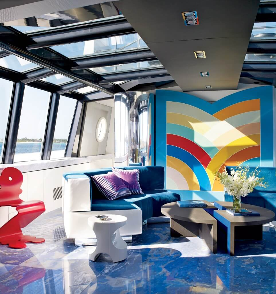 Futuristic High Contrast Living Room
