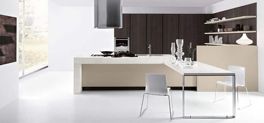 High Contrast Contemporary Kitchen