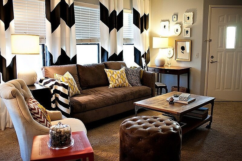 Chevron Accents In 9 Modern And Cheery Living Room Designs