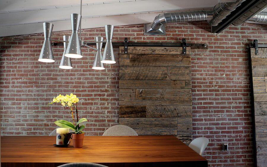 Exposed brick walls in 10 cool dining room design ideas for Cool brick wall designs