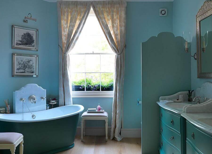 10 blue eclectic bathroom design ideas