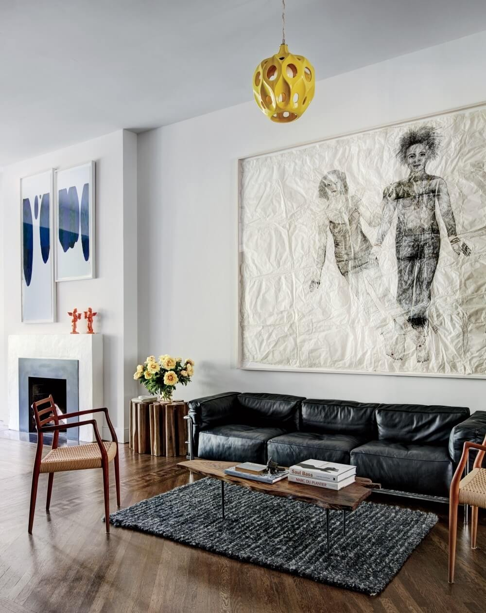 Modern High Contrast Living Room