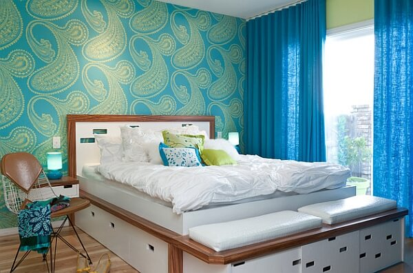 Paisely Accent Wall