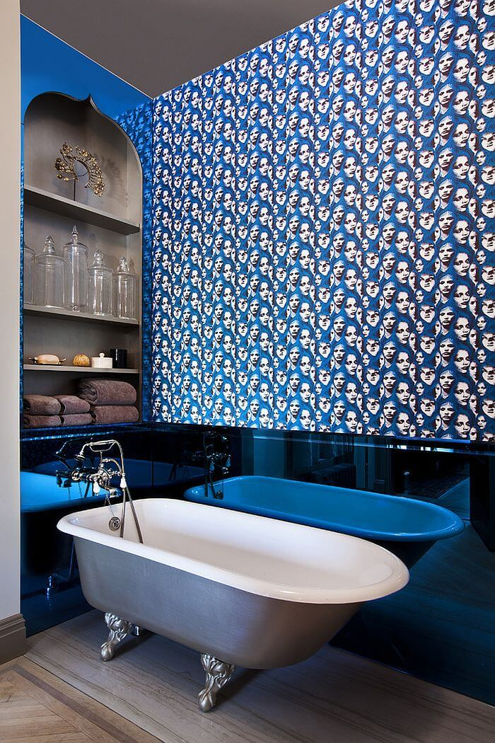 10 blue eclectic bathroom design ideas https for Quirky bathroom ideas