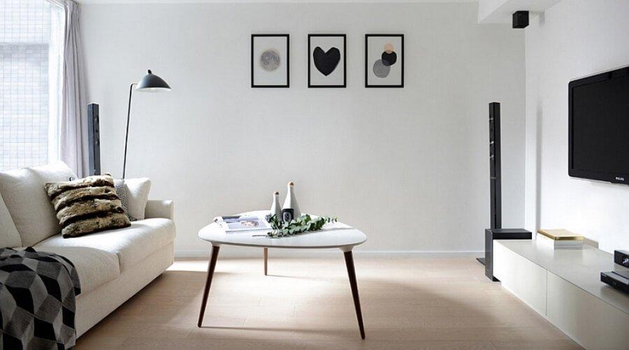 Scandinavian Black and White Living Room