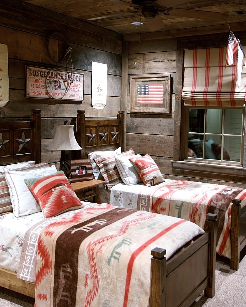 Shared Rustic Kid's Bedroom